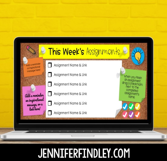 FREE digital assignment checklists for Google Classroom!