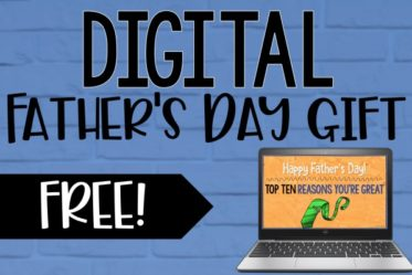 Do you need a digital Father's Day gift idea this year? Grab a FREE Top Ten Slideshow Gift that your students can make easily in Google Slides and share with their dads or loving guardians!