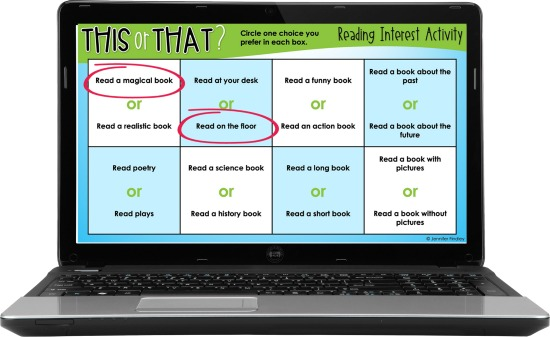 Teaching digitally and need a way to learn more about your readers? Grab FREE digital reading interest surveys to help!