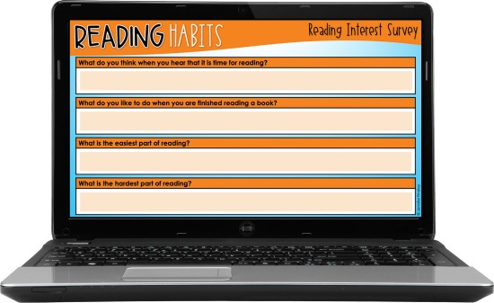 Use these FREE digital reading surveys to help you get to know your students as readers!