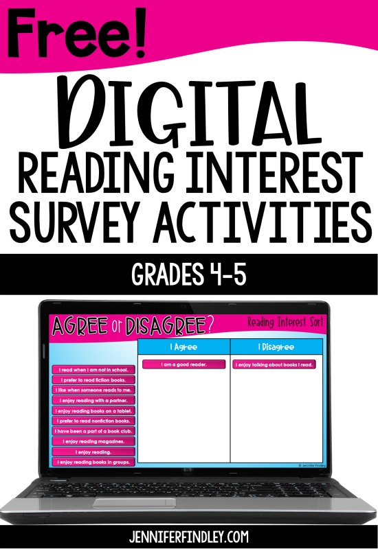 Free digital reading interest survey activities to help you get to know your readers! Use these reading interest activities to learn about your students' interests and connect that to your reading instruction.