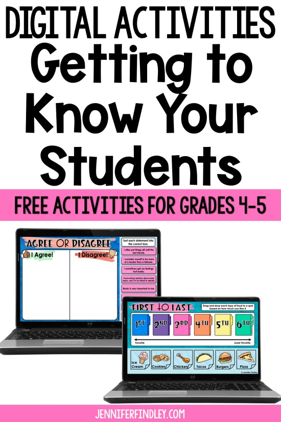 Free digital activities for getting to know your students! Use these engaging and interactive digital back-to-school activities to help you get to know your students and their interests!