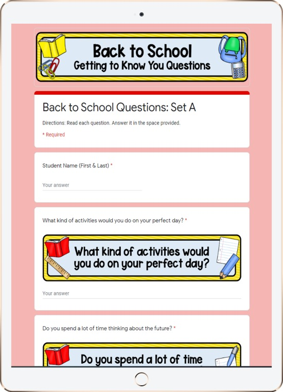 "Do you need a way to connect and get to know your students digitally? These FREE digital ""getting to know your students"" activities will help you get to know your students' interests and their personalities."
