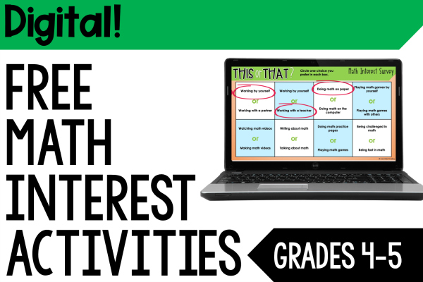 Teaching digitally and need a way to learn more about your students? Grab FREE digital math interest survey activities to help!