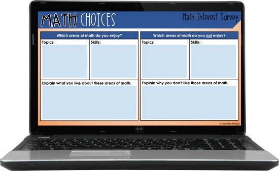 Use these FREE digital math surveys to help you get to know your students and how they feel about and view math.