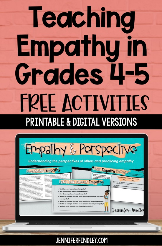 Are your students lacking empathy? Use these free teaching empathy activities and resources to introduce and teach the skill of empathy to your students!