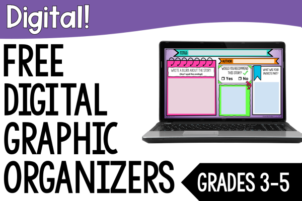 Teaching reading online and need some digital reading resources? This post shares FREE digital graphic organizers for reading.