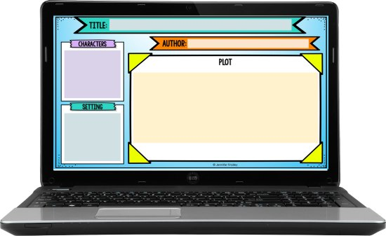 Free digital graphic organizers for online or virtual reading instruction!