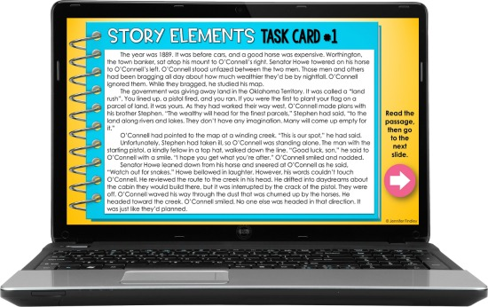 Teaching virtually and need some ideas and strategies for reading instruction? This post shares several ways to use task cards for digital reading instruction.
