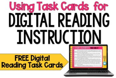 Want to use digital task cards for your online reading instruction? This post shares several ways to use task cards for virtual reading instruction, including synchronous and asynchronous digital reading instruction.