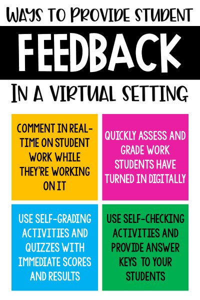 Wanting to increase the effectiveness and engagement of your virtual reading instruction? Check out these four ways to provide student feedback while teaching virtually.