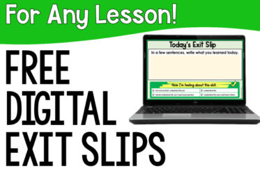 Free digital exit slips to use with any lesson! Use these digital exit tickets to see what your students have learned and allow them to self-reflect.