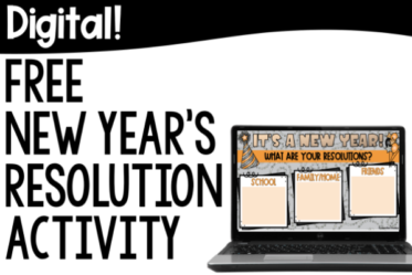 Free New Year's resolution activity for grades 4-5! Grab a free nonfiction text and resolution activity in both printable and digital formats!