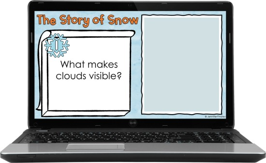 Free digital winter reading activity! Grab FREE digital reading questions to go with The Story of Snow, a winter read aloud for grades 3-5.