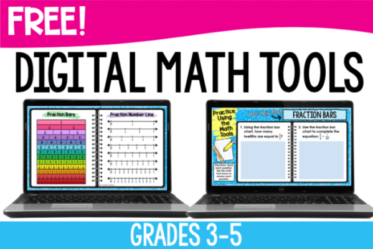 Free digital math tools for grades 3-5! Use these digital math tools to help your student successfully complete digital math activities!