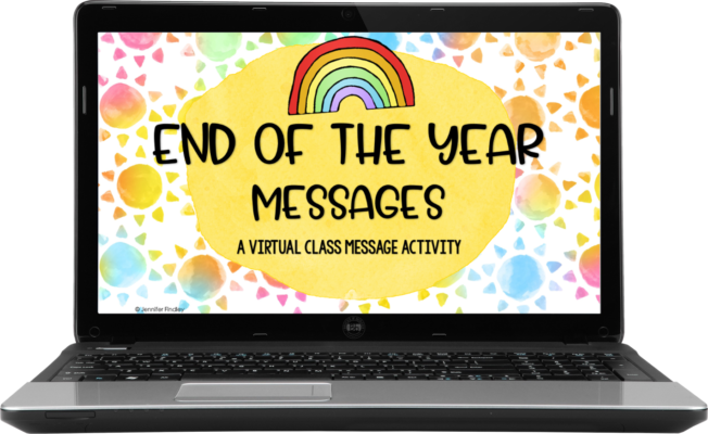 end of year messages activity