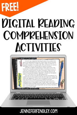 Download these digital reading activities to practice comprehension at the beginning of the school year.