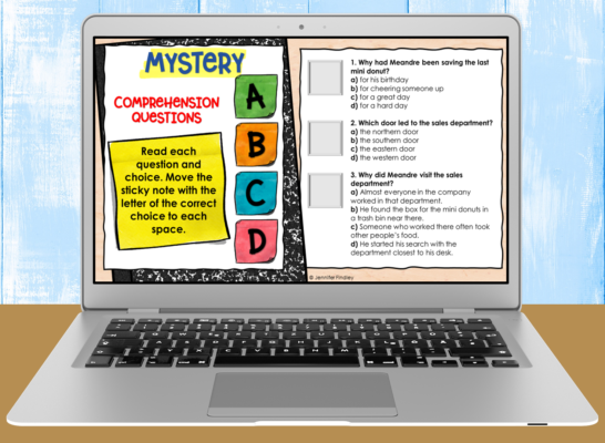 Download these free reading digital activities with comprehension questions.
