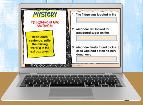 Free reading comprehension passages and activities for upper elementary reading.