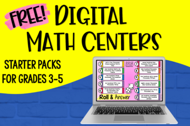 Use this starter kit to introduce your students to digital math centers! There are six free digital math activities that you can download.