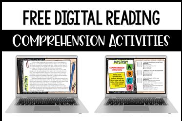 Free digital reading comprehension activities!