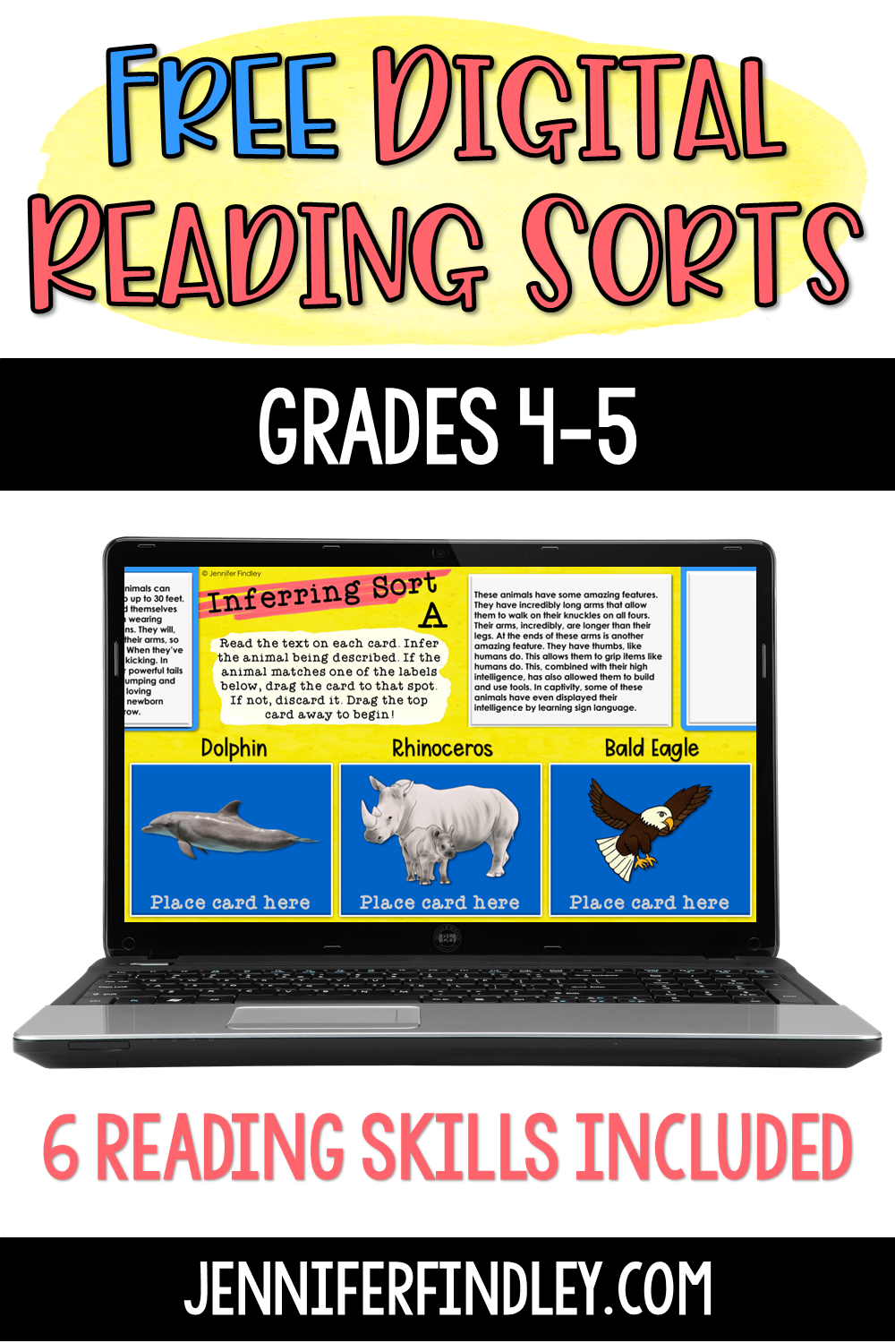 Download these free digital reading sorts for grades 4-5!