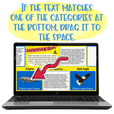 Interactive digital reading sorts for Google Slides.