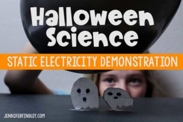 This ghostly static electricity demonstration is a perfect Halloween science activity. Get all the details including a free reading passage on this post.